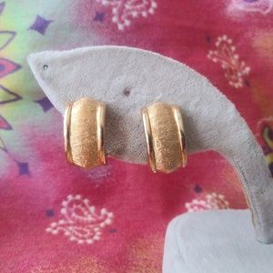 Vintage Dior Gold Clip On Earrings
